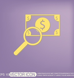 Dollar bill symbol of money vector