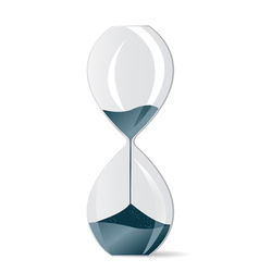 modern hourglass vector image