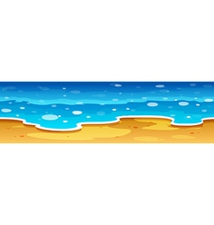 Ocean view with beach vector