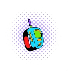 Transmitter comics icon vector