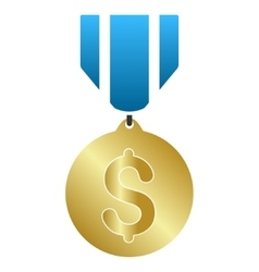Business medal gradient icon vector