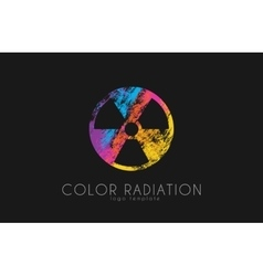 Radiation logo color radiation design creative vector
