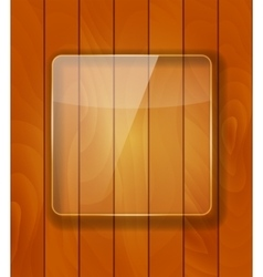 Glass frame on checkered abstract woody vector