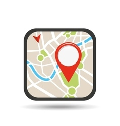 Location on map design vector