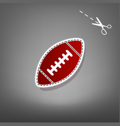 American simple football ball red icon vector