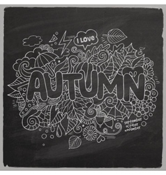 Autumn hand lettering and doodles elements vector image vector image