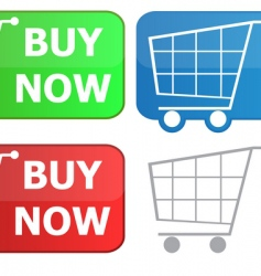 button grocery cart vector image