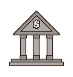 Cartoon building bank money finance vector