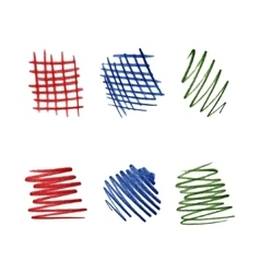 Color pencil scribbles vector