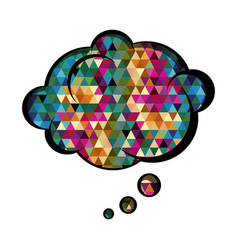 Colorful cloud speech with abstract background vector