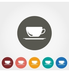 Cup on saucer icon vector image
