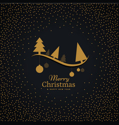 Elegant golden christmas greeting with hanging vector