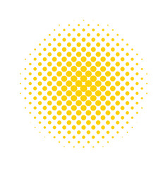Halftone dots colored abstract background in pop vector