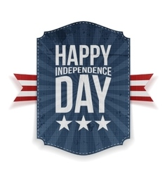 Happy Independence Day realistic Banner vector image vector image