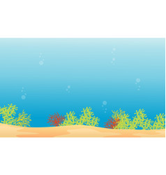 Landscape of reef on ocean style vector