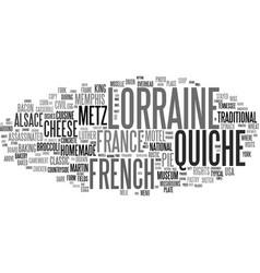 Lorraine word cloud concept vector