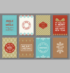 Merry christmas typography and elements vector