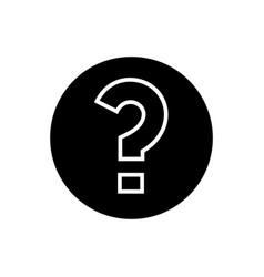 question icon black sign on vector image