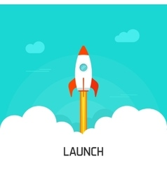Rocket launch concept of vector image