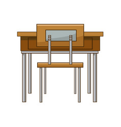 school table and chair of classroom vector image vector image