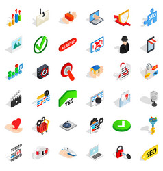 Secure safety icons set isometric style vector