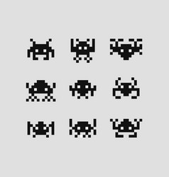 Space invaders 8 bit set vector