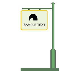 street notice board vector image vector image