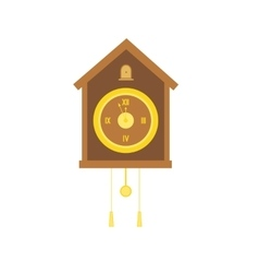 Traditional christmas cuckoo clocks with pendulum vector