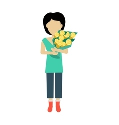 Woman Character Template vector image vector image