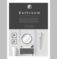 Interior design modern bathroom banner 4 vector