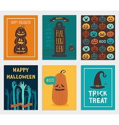 Halloween cards set vector