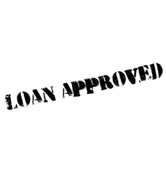 Loan approved stamp vector