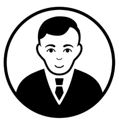 Rounded gentleman flat icon vector