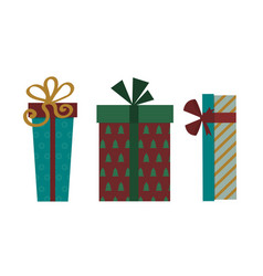 Gift box isolated present vector