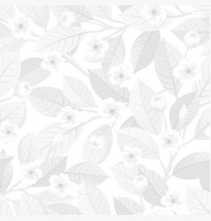 White floral seamless pattern vector