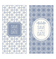 Retro invitation templates patterned background vector