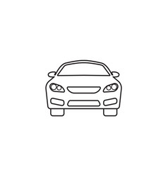 car icon automobile symbol graphics vector image