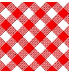 Tablecloth pattern red vector