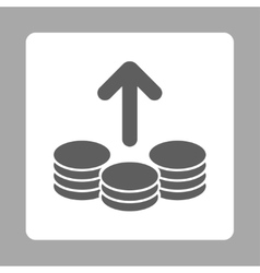 Payout icon from commerce buttons overcolor set vector