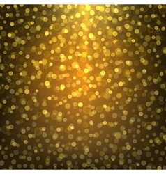 Bright gold abstract background bokeh vector