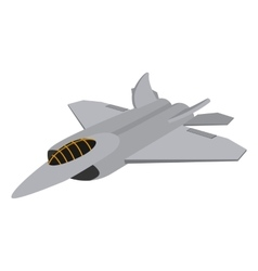 Military aircraft cartoon icon vector