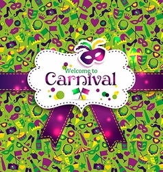 Bright carnival seamless texture vector