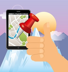 Gps technology design vector