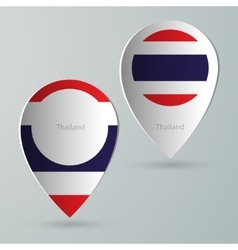 Paper of map marker for maps thailand vector