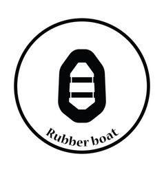 Icon of rubber boat vector