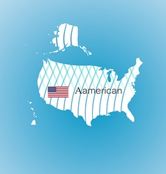 Aamerican map image inspired by The waves of the vector image vector image