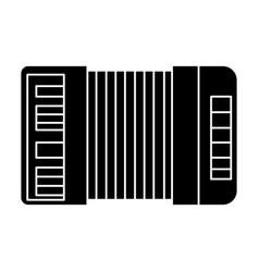 Accordion icon black sign on vector