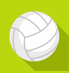 Ball for playing volleyball icon flat style vector