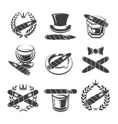 Cigars logo set vector image vector image