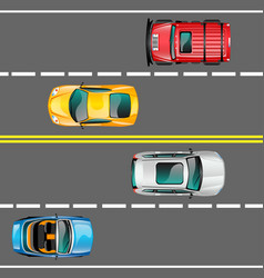 city traffic concept vector image vector image